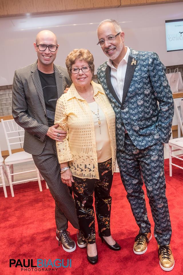 Alex Page, E. Vincent Martinez with Vincent's Mom