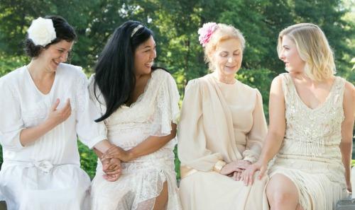 Amanda Cucher (from left), Shelli Delgado, Holly Stevenson, Maggie Birgel. Photo: Casey Gardner
