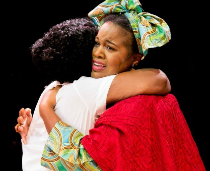 Latrice Pace (left) and Jeanette Illidge as Celie and Nettie. Photo: Casey Gardner