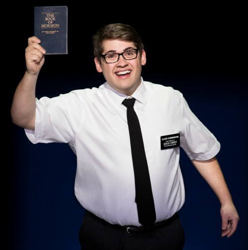 Conner Peirson as Elder Cunningham. Photo: Julieta Cervantes