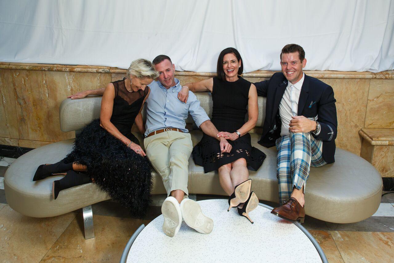 Jeffrey Fashion Cares Co-Chairs: (l-r) Louise Sams, Jeffrey Kalinsky, Lila Hertz, Jeffrey McQuithy /  Photo: Ben Rose Photography