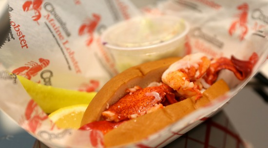 The Maine-style lobster roll at Buckhead's Cousins comes chilled with mayo.