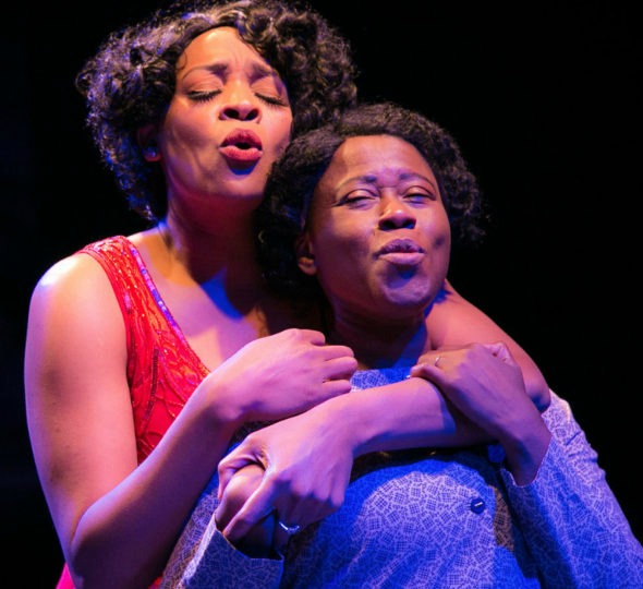 "Jasmyne Hinson (as Shug Avery, left) and Suzi award-winning best actress Latrice Pace (as Celie) in ""The Color Purple."" Photo: Casey Gardner"
