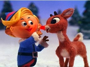 Hermey the Elf and Rudolph.