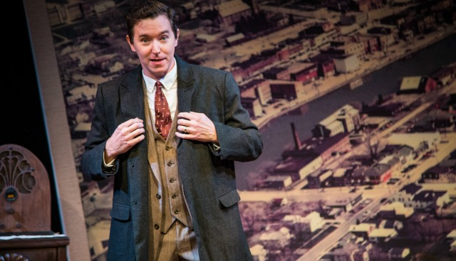 "Jeremy Aggers as George Bailey and everyone else in ""This Wonderful Life."" Photo: Casey Gardner"