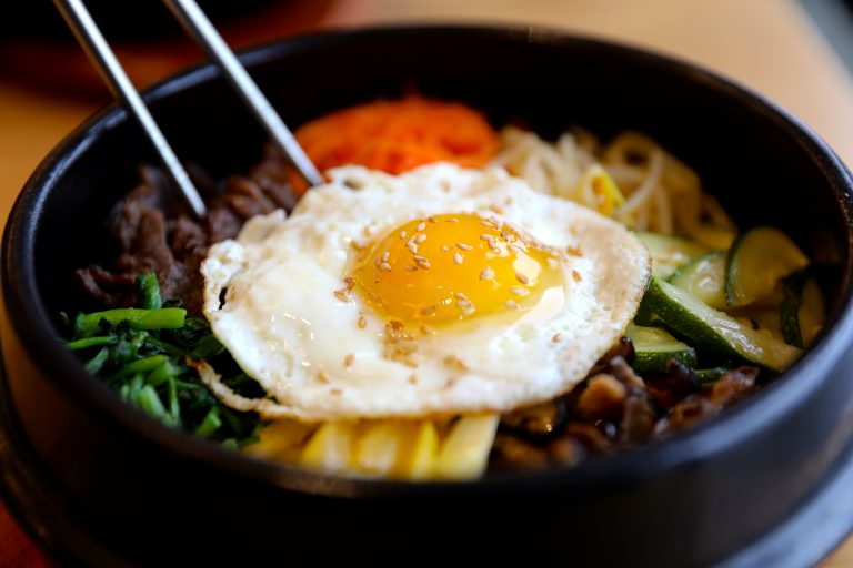 Korean staple dish, Bibimbap, at Dish Korean Cuisine. Photo by David Danzig.