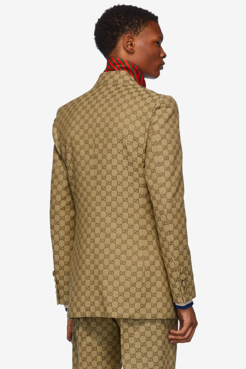 Gucci Drops GG Pattern-Emblazoned Suit & Patch Cap Set