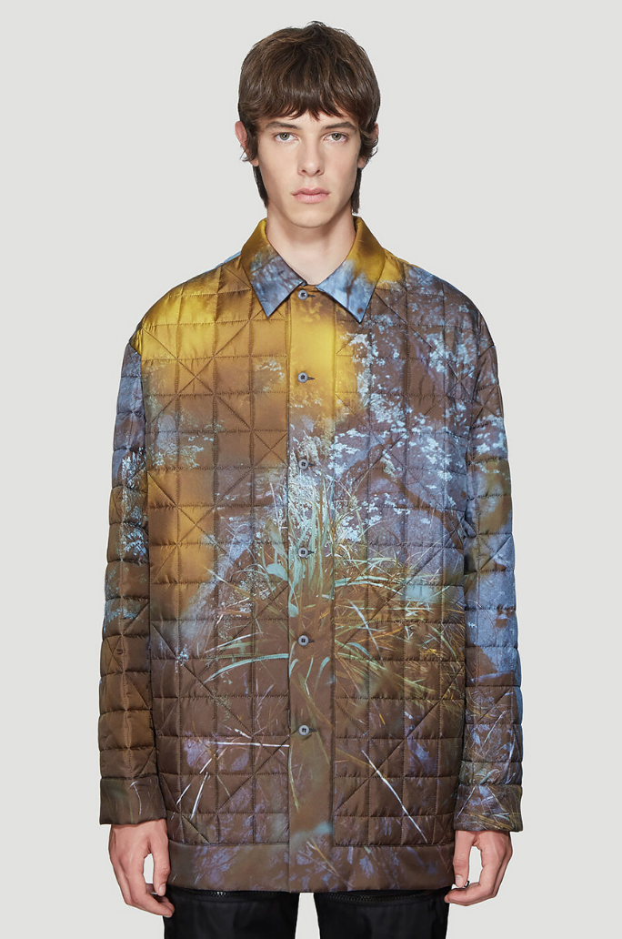 OAMC Polly Shirt Jacket With All-Over Flower Print