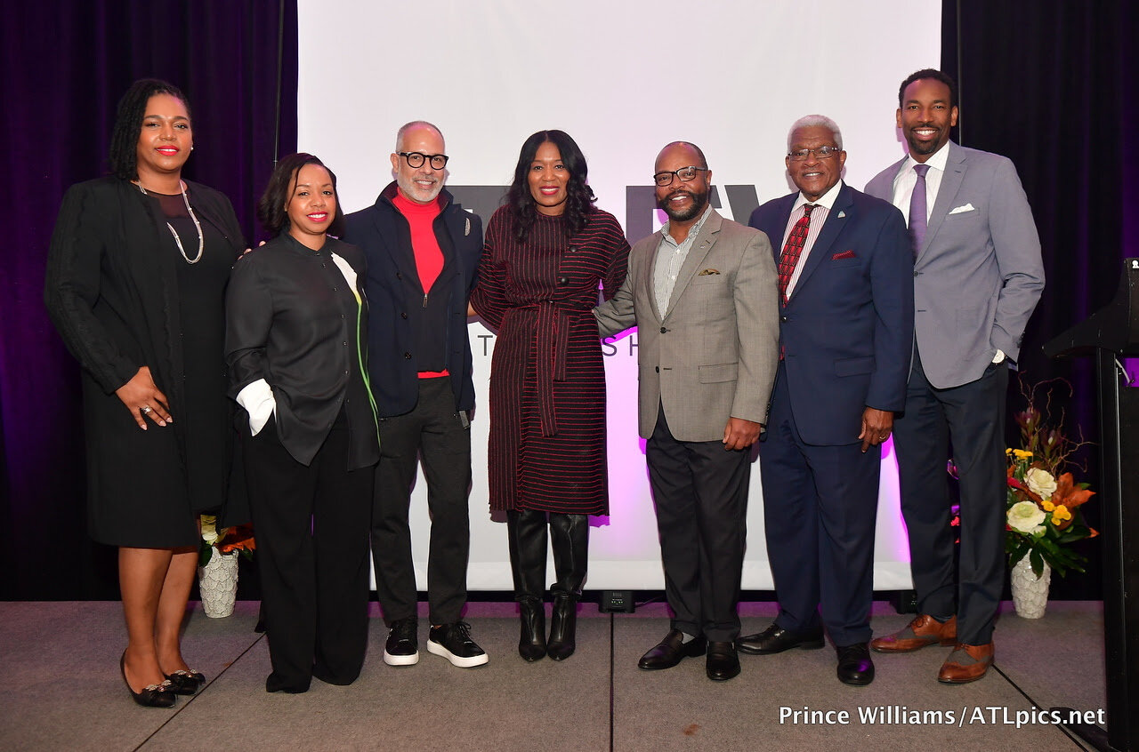 (L to R)  Tracey Lloyd  (District Manager, JCPenny),  Phillana Williams  (City of Atlanta, Mayor's Office of Film and Entertainment),  E. Vincent Martinez  (Philanthropic Educator and Founder of Fashionado.net),  Angela Watts  (Founder, RAGTRADE ATLANTA),  Robert Woolridge  (General Manager, W Atlanta-Buckhead),  Lonnie Saboor  (Director of Small Business Development, Invest Atlanta),  Councilman Andre Dickens  (City of Atlanta)