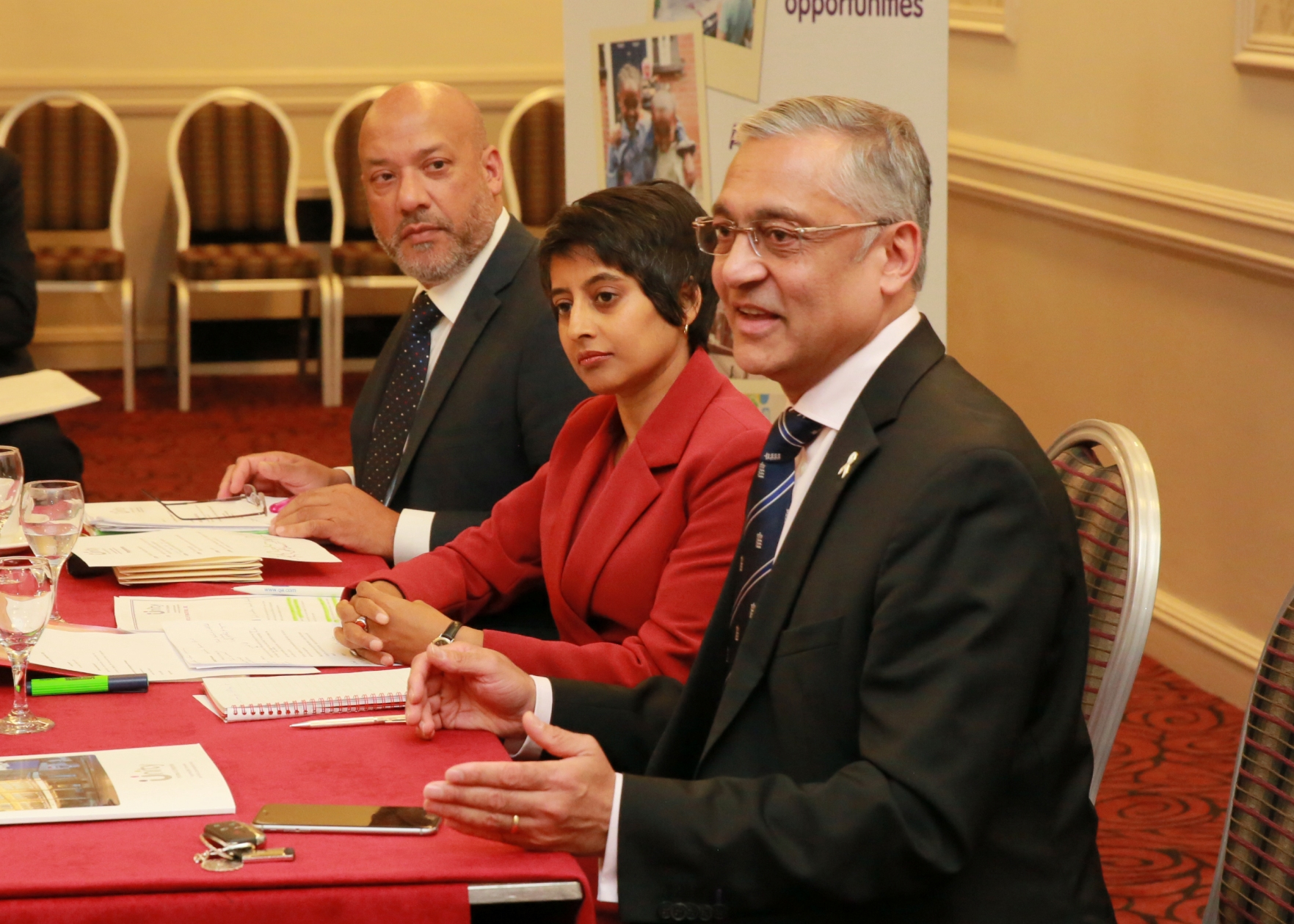 Lord Patel of Bradford answers questions following his keynote speech at the Unity Homes and Enterprise AGM