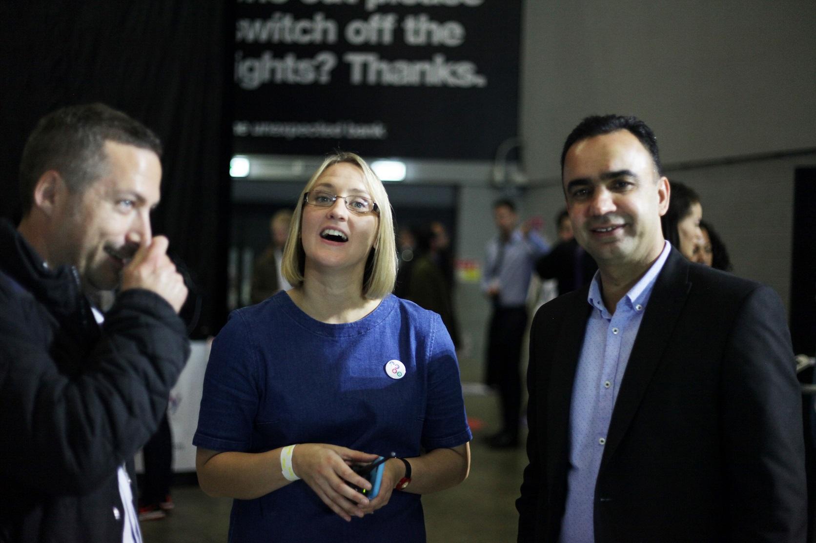 Amy De-Balsi (centre) from Herd, organisers of Leeds Digital Job Fair 2.0