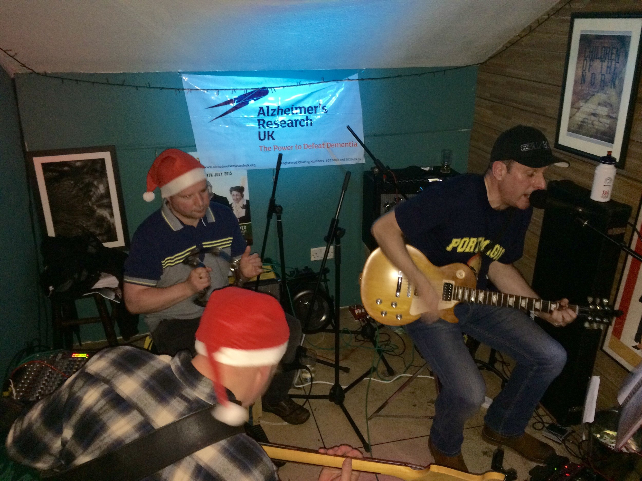Rolling back time: From right to left – Jonny Lennox, Peter Jameson, and Paul Beattie performing as The Fix after 25 years away
