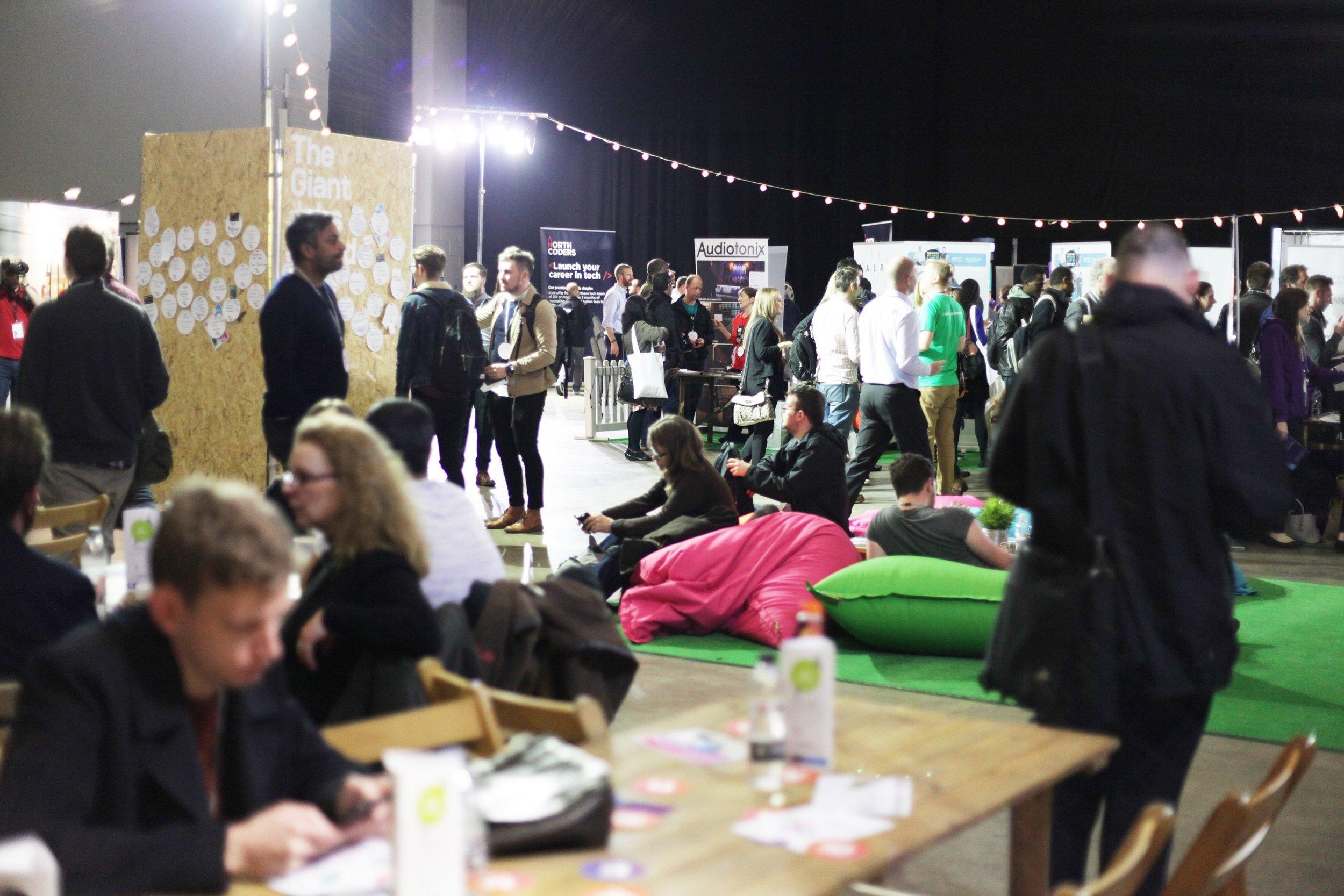 A packed First Direct Arena at Leeds Digital Job Fair 2.0