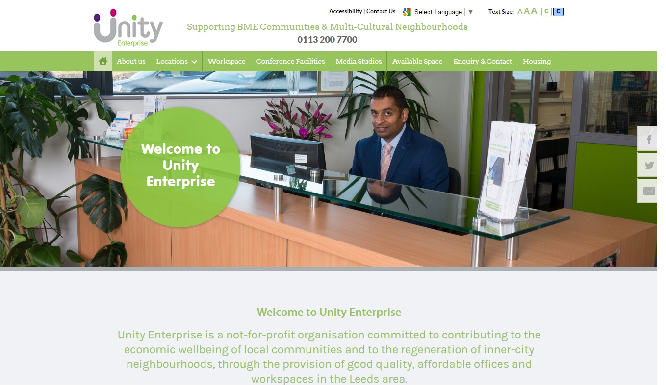 The new Unity Enterprise website which was launched today