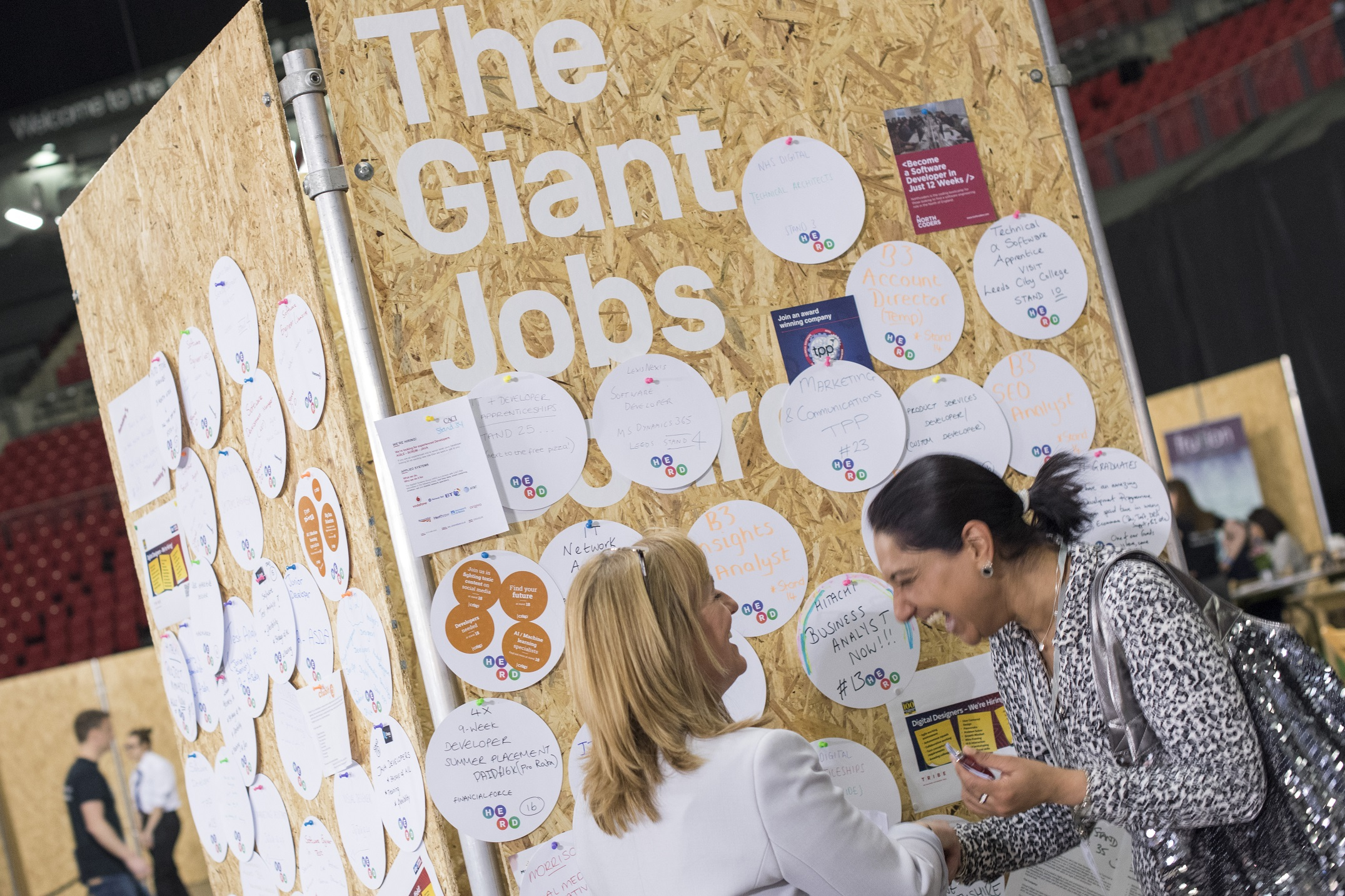 Some of the many hundreds of vacancies on offer at Leeds Digital Job Fair 3.0