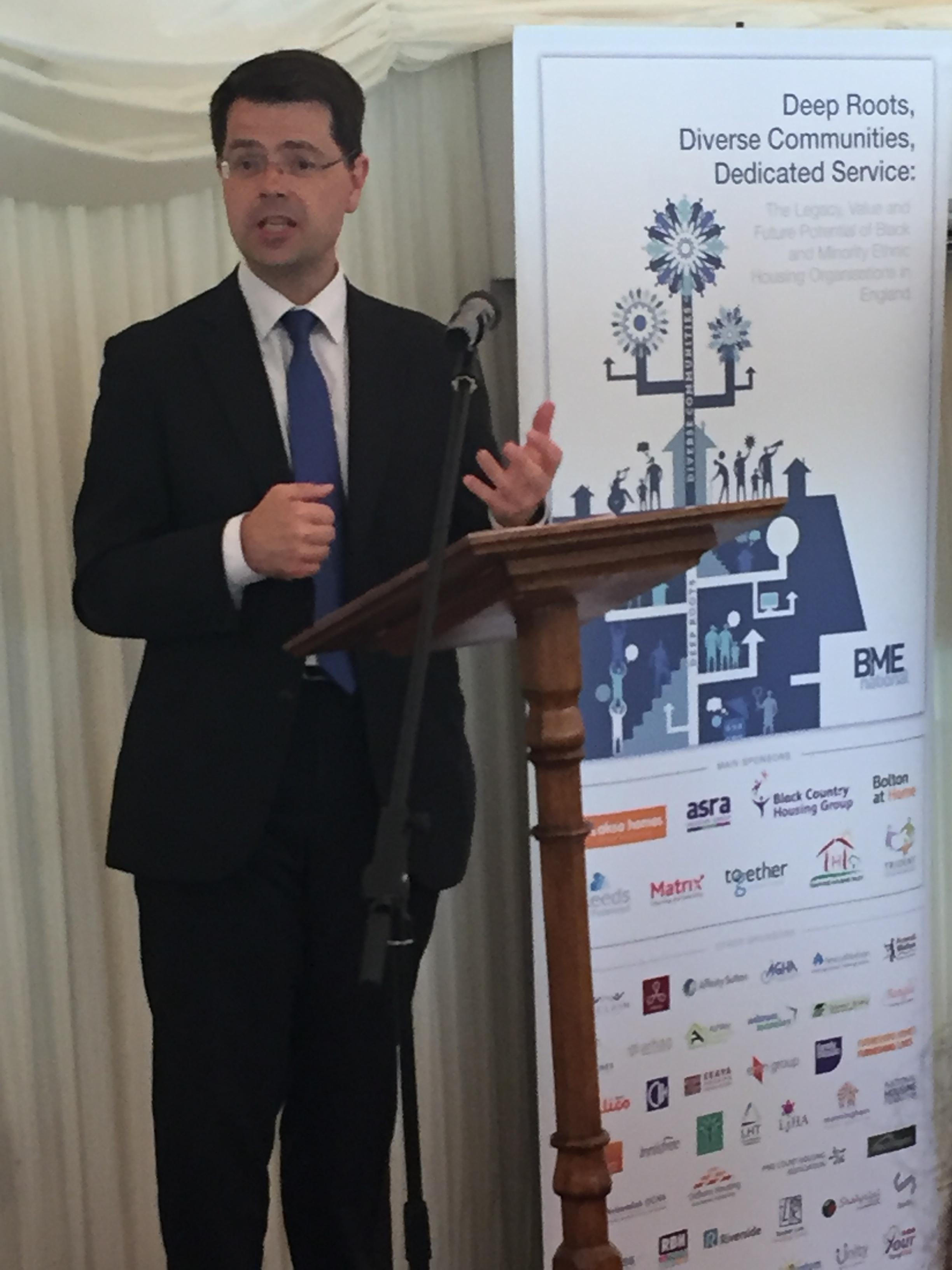James Brokenshire at the BME National celebration event