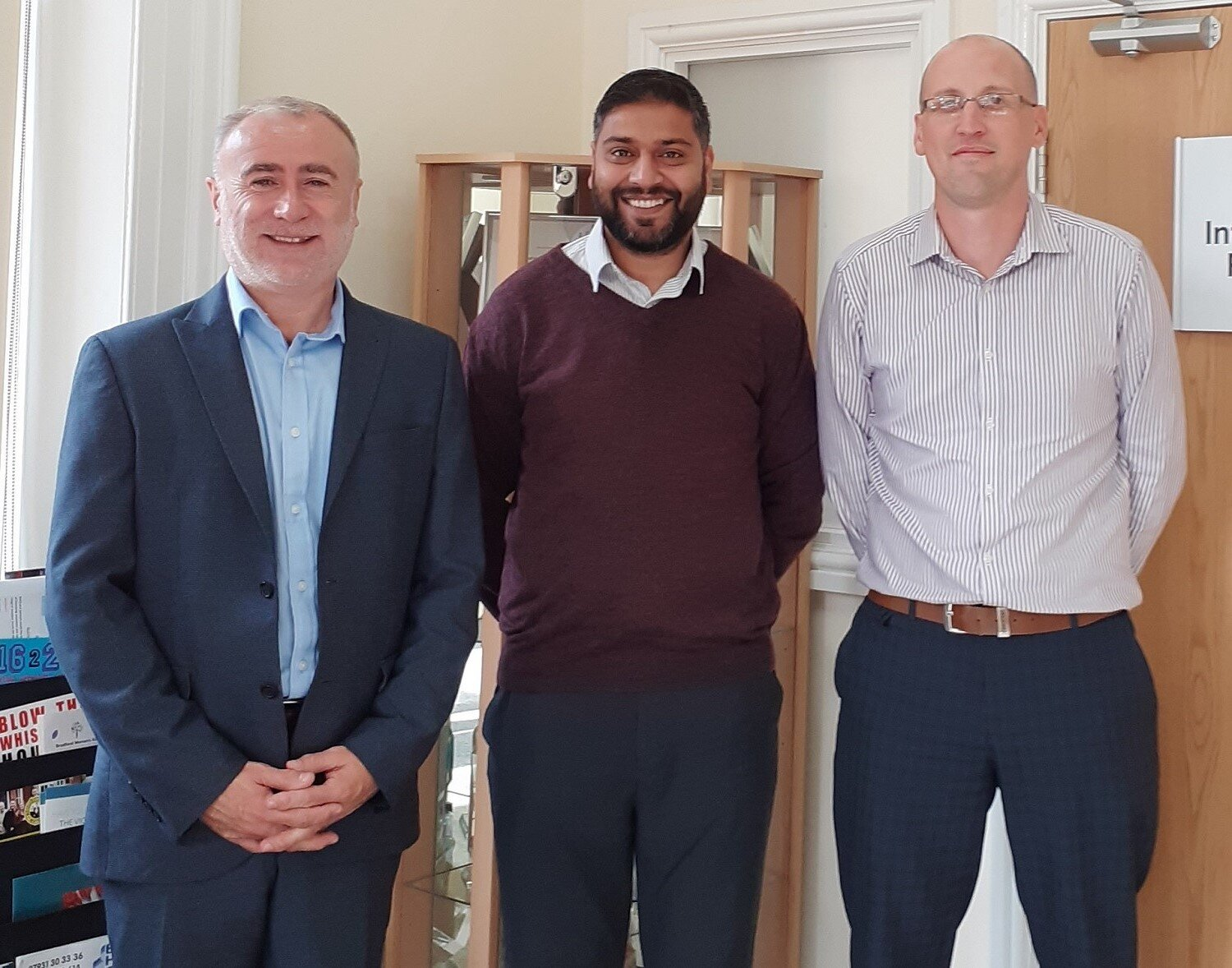 L to Rt: Lee Bloomfield, Manningham Housing Association Chief Executive with Nas Hussain, Community Partnerships and Investment Manager and Matthew Hayes, IT Manager
