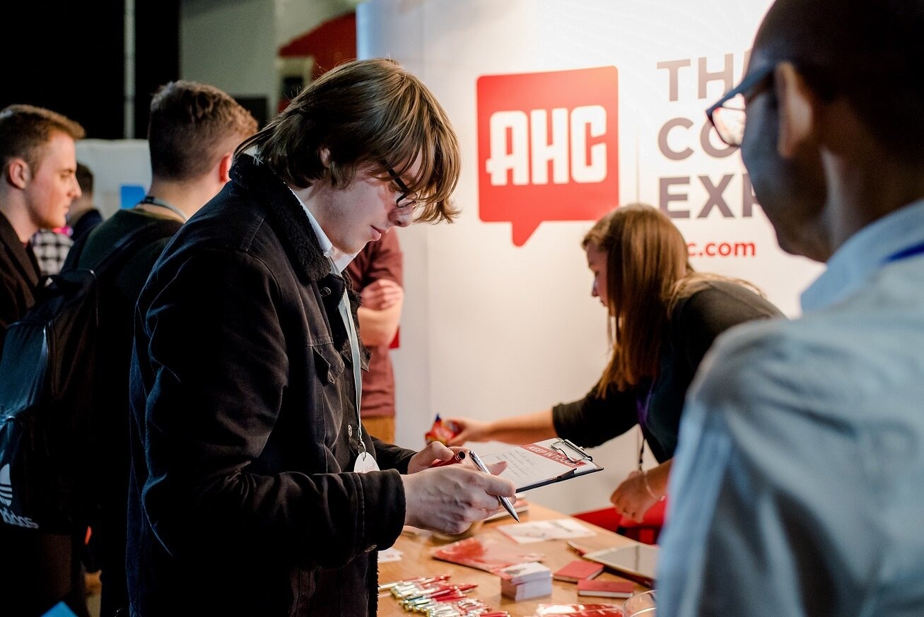 The AHC stand at Leeds Digital Job Fair 5.0