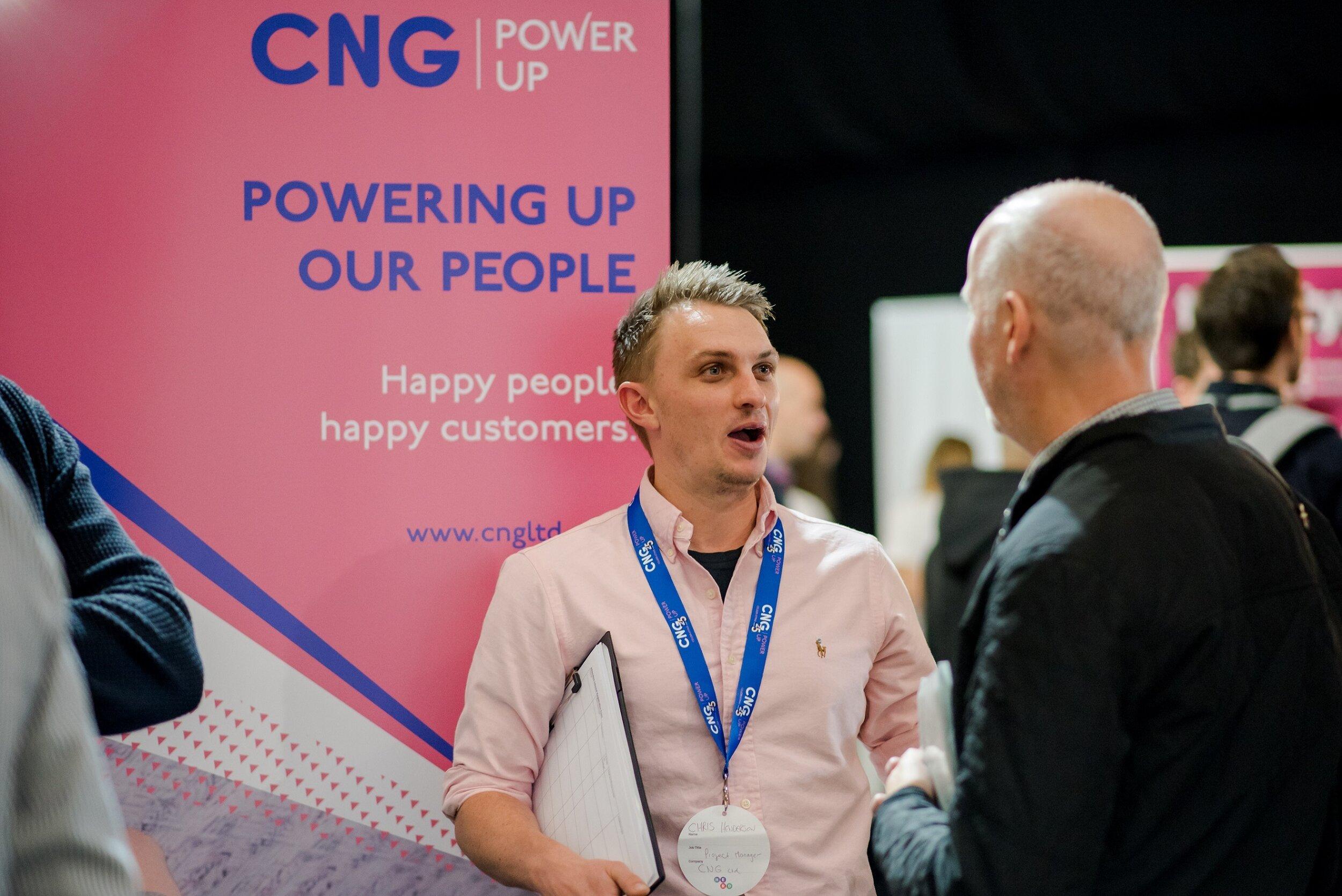 The CNG stand at Leeds Digital Job Fair 5.0