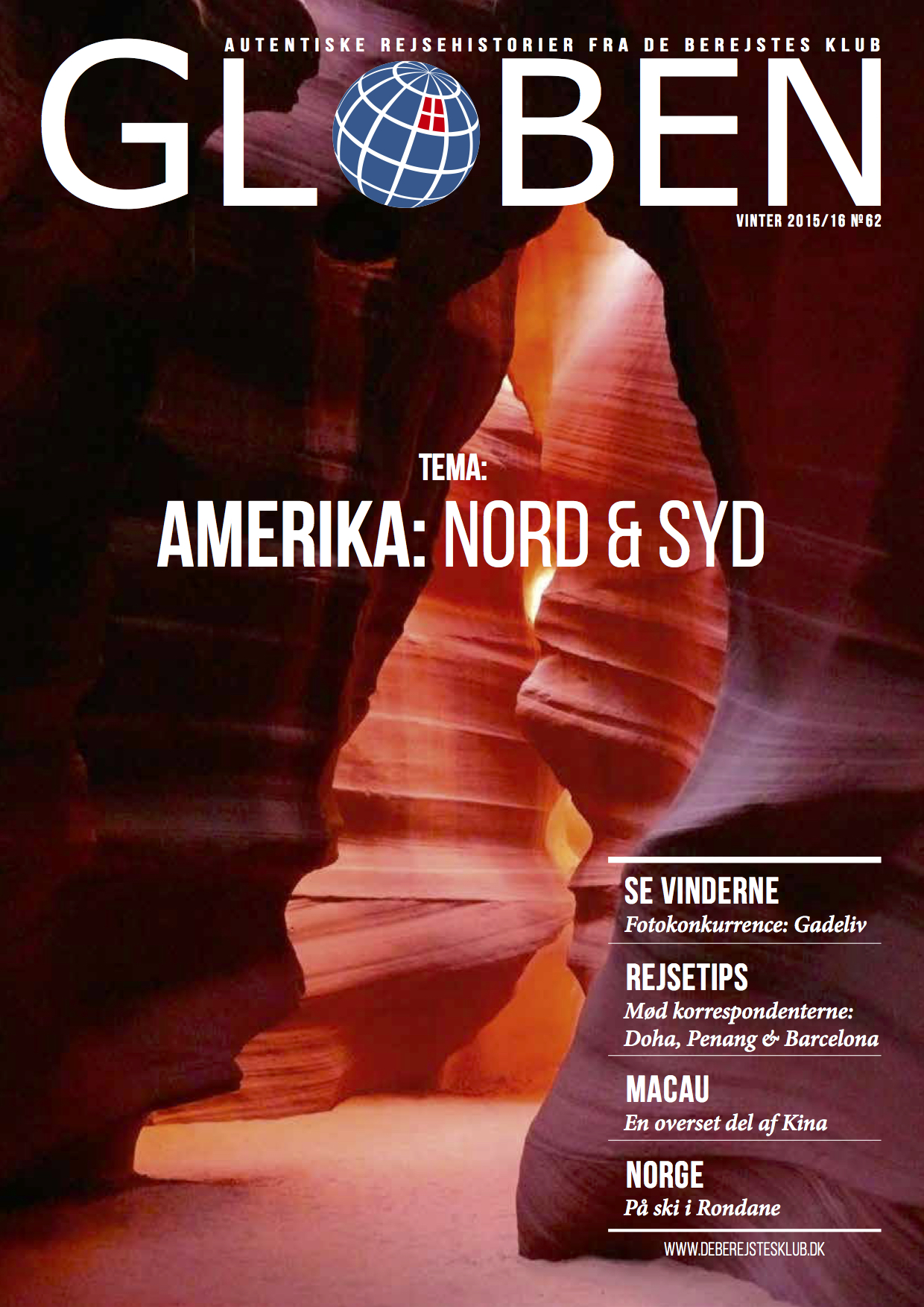 Issue 62: Amerika: Nord & Syd   America: North & South is the theme for this issue. The stories take us from USA,Mexico, Cayman Islands, Colombia, Ecuador, down to Argentina. Download the issue  here .