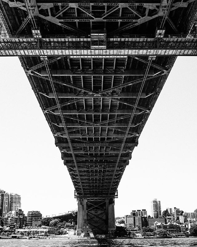 Under the Bridge. Sydney, Australia.  It is a hot summer this year. Walking in broad daylight requires constant hydration. The view by the harbour is, however, bright and beautiful as ever.