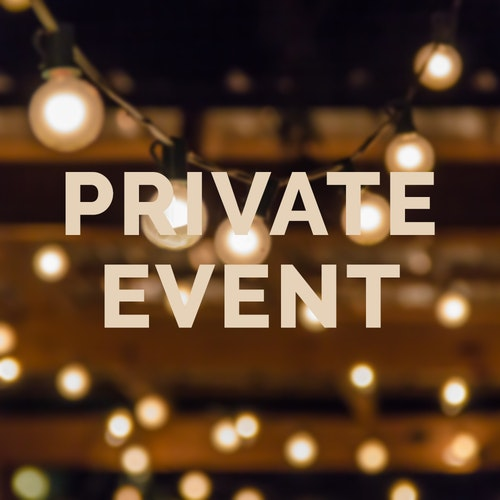 We will be closed after 5 pm for a private event. We apologize for any inconvenience.