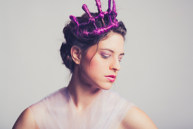 Hair Crown Portrait - Radiant Orchid