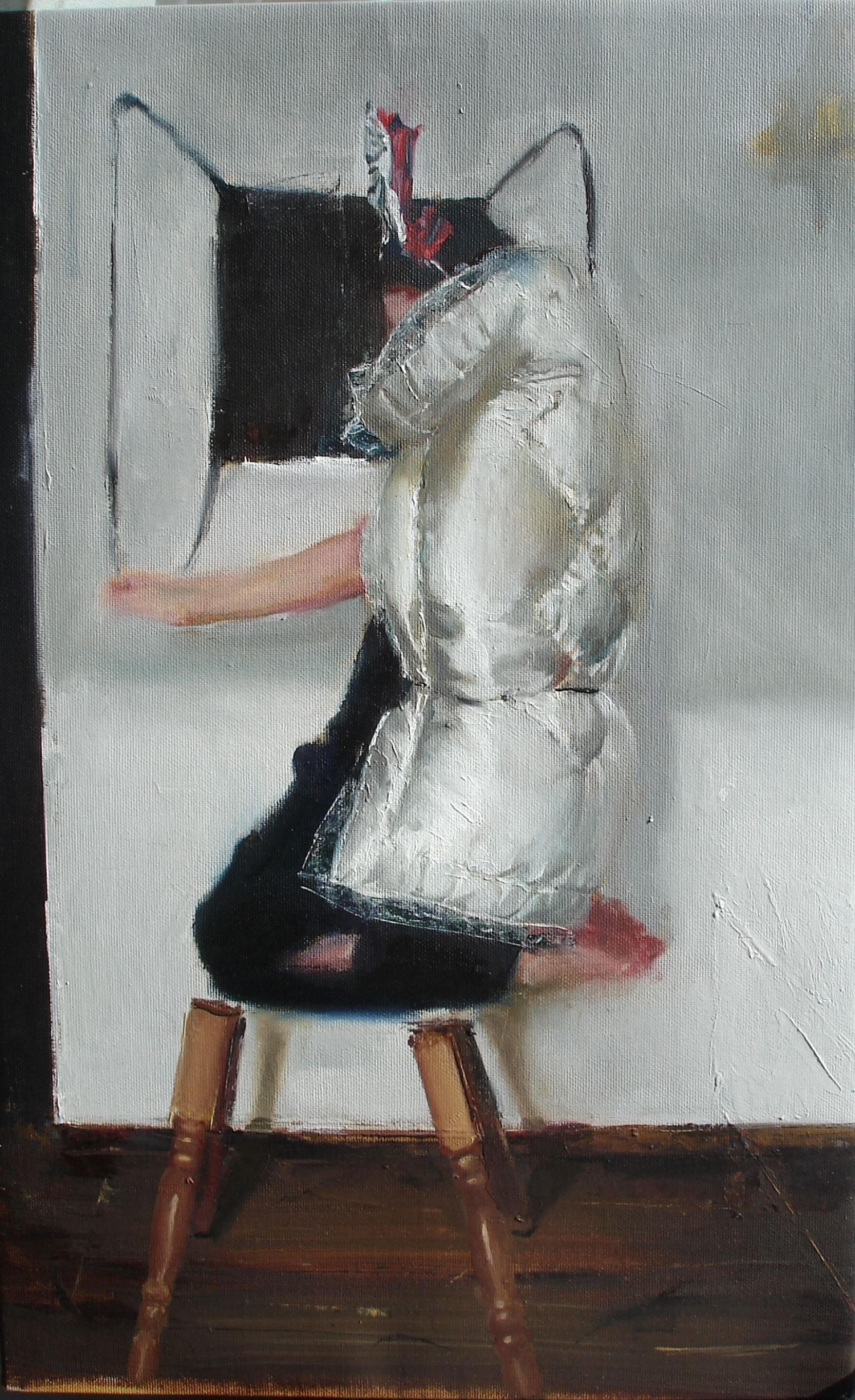 """""""Becoming 3"""" (2012)  Oil on canvas  20 x 13 in"""