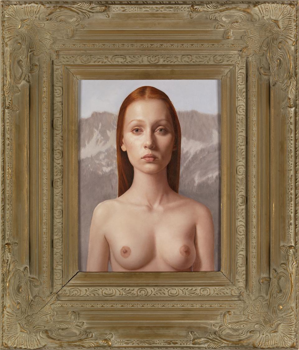 """Soft"" (2011)  Oil on board  16 x 12 in"