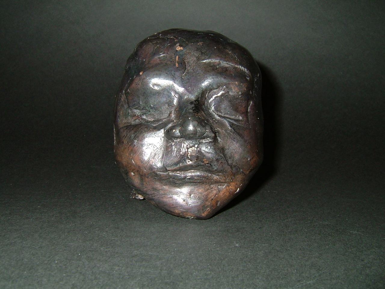 """""""Day 1"""" (2004)  Bronze cast  3.4 in diameter"""