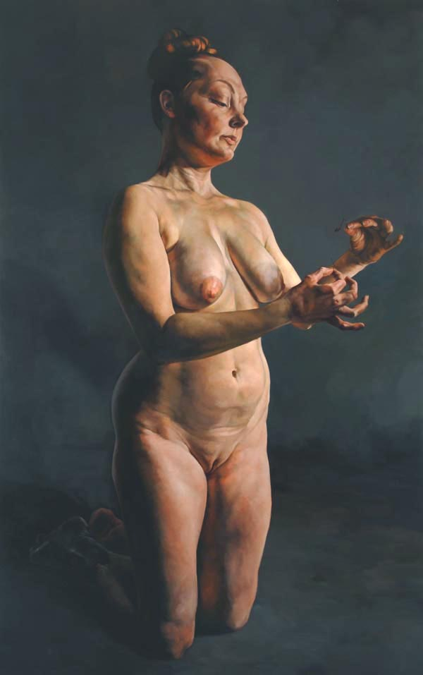 """""""Envy (from the Seven Deadly Sins)"""" (2007)  Oil on canvas  99 x 62 in"""