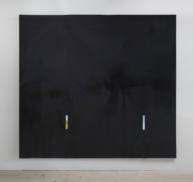 """""""Thrice II"""" (2014)  Oil on linen  84 x 92in"""