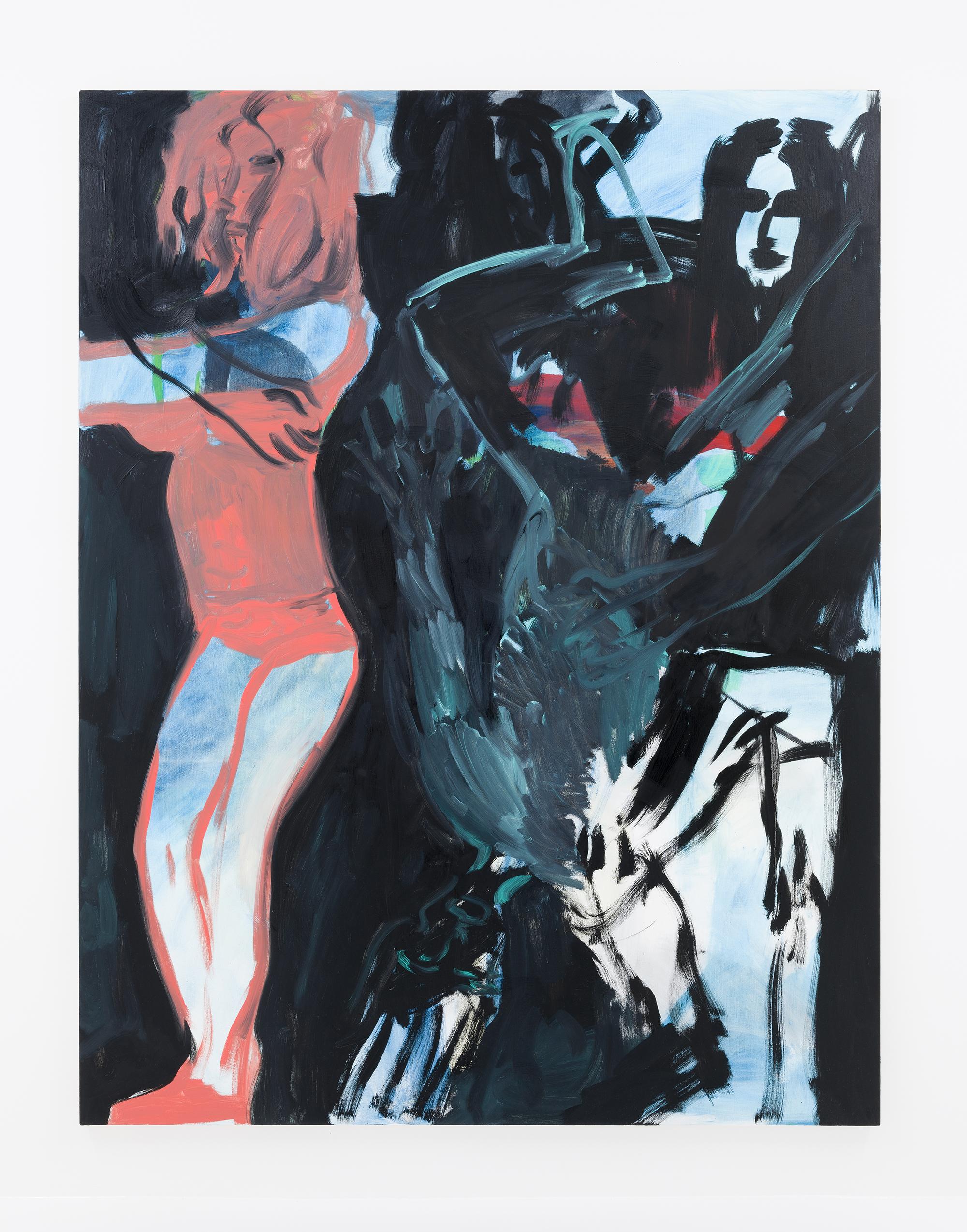 """Club Caligula - Club II"" (2015)  Oil on canvas  90.5 x 71 in"