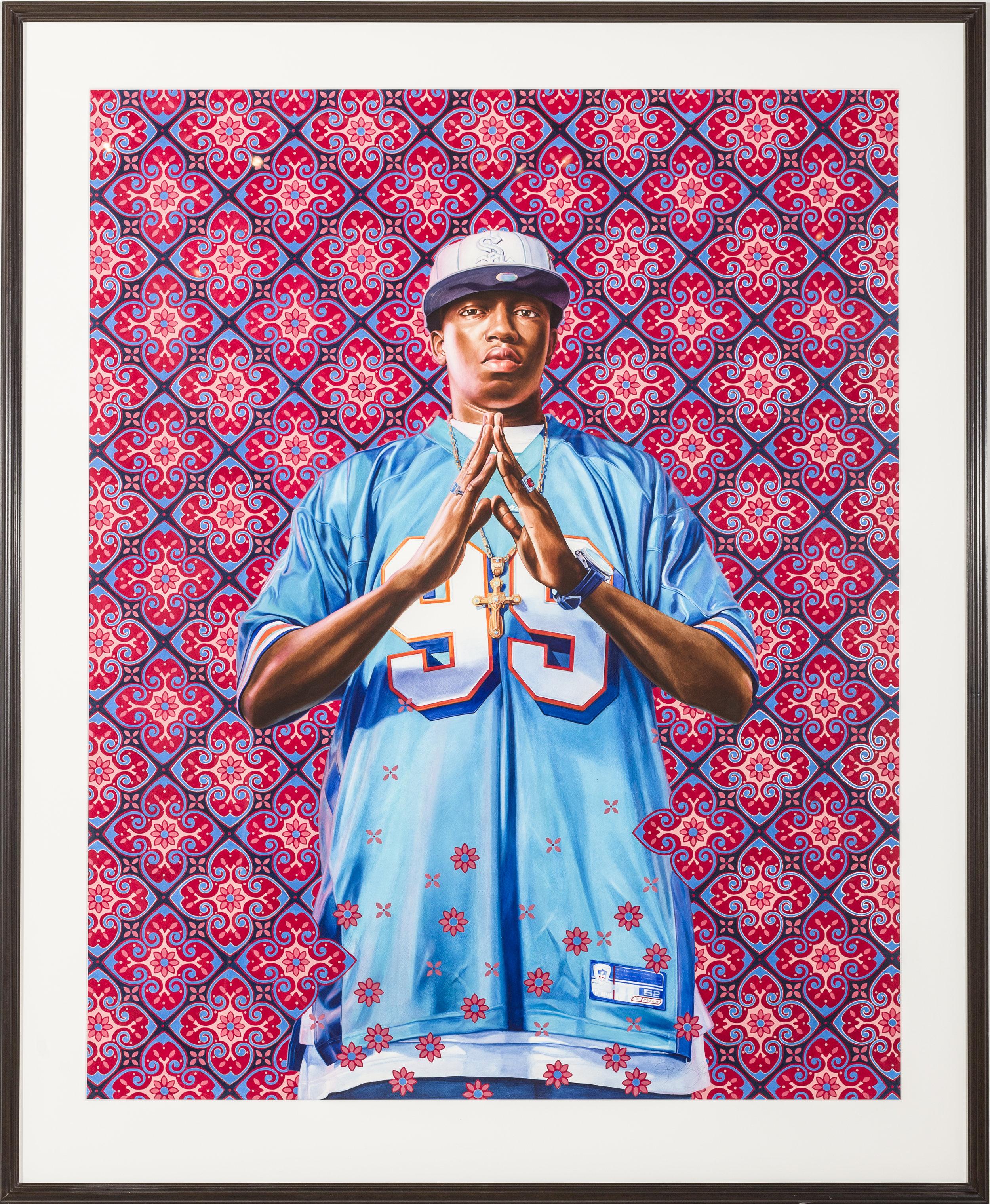 """Kofi Graham Study I"" (2011)  Oil on paper  60 x 48 in"