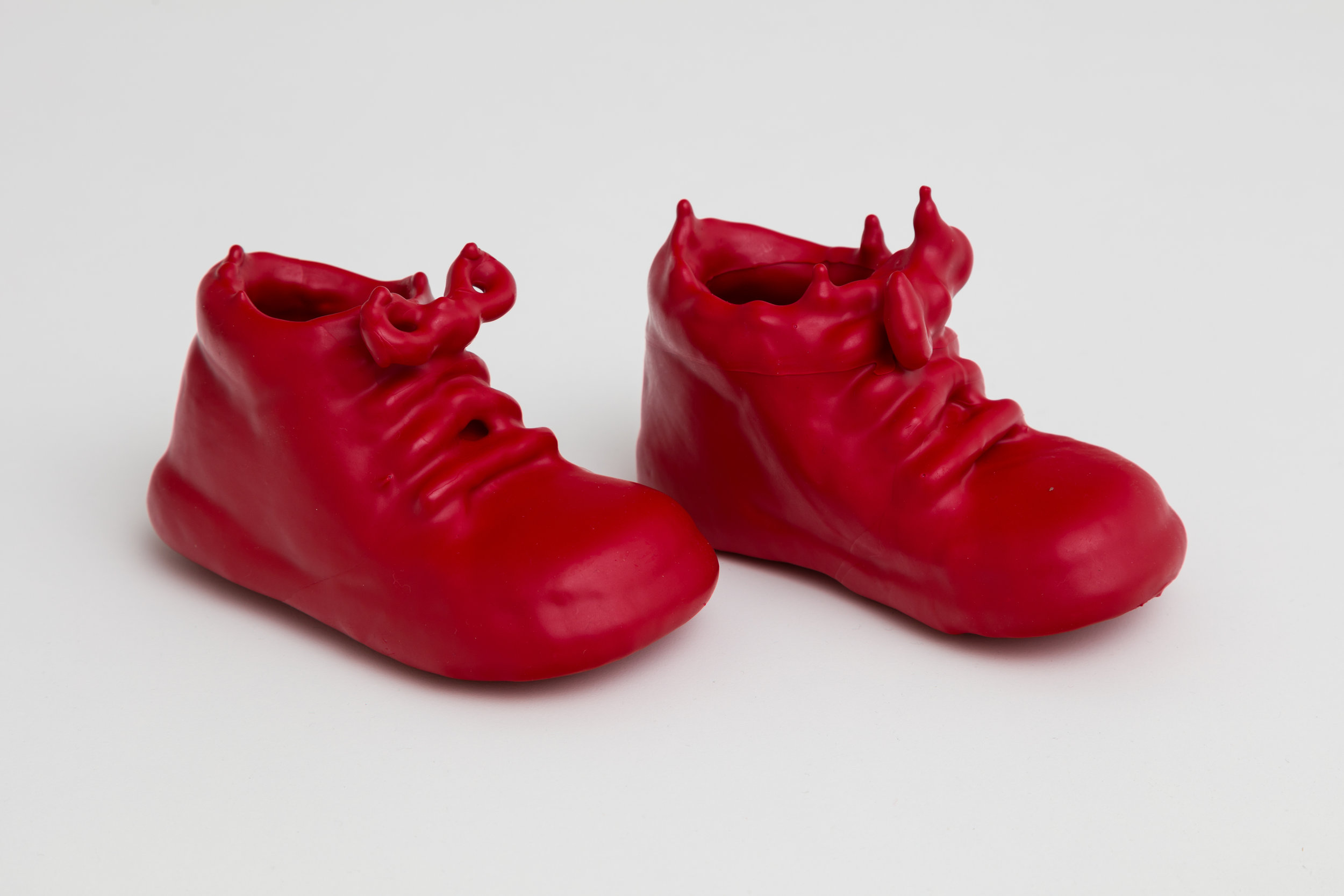 """""""Baby Boots""""  Lipstick and resin  5 x 2 x 3 in"""