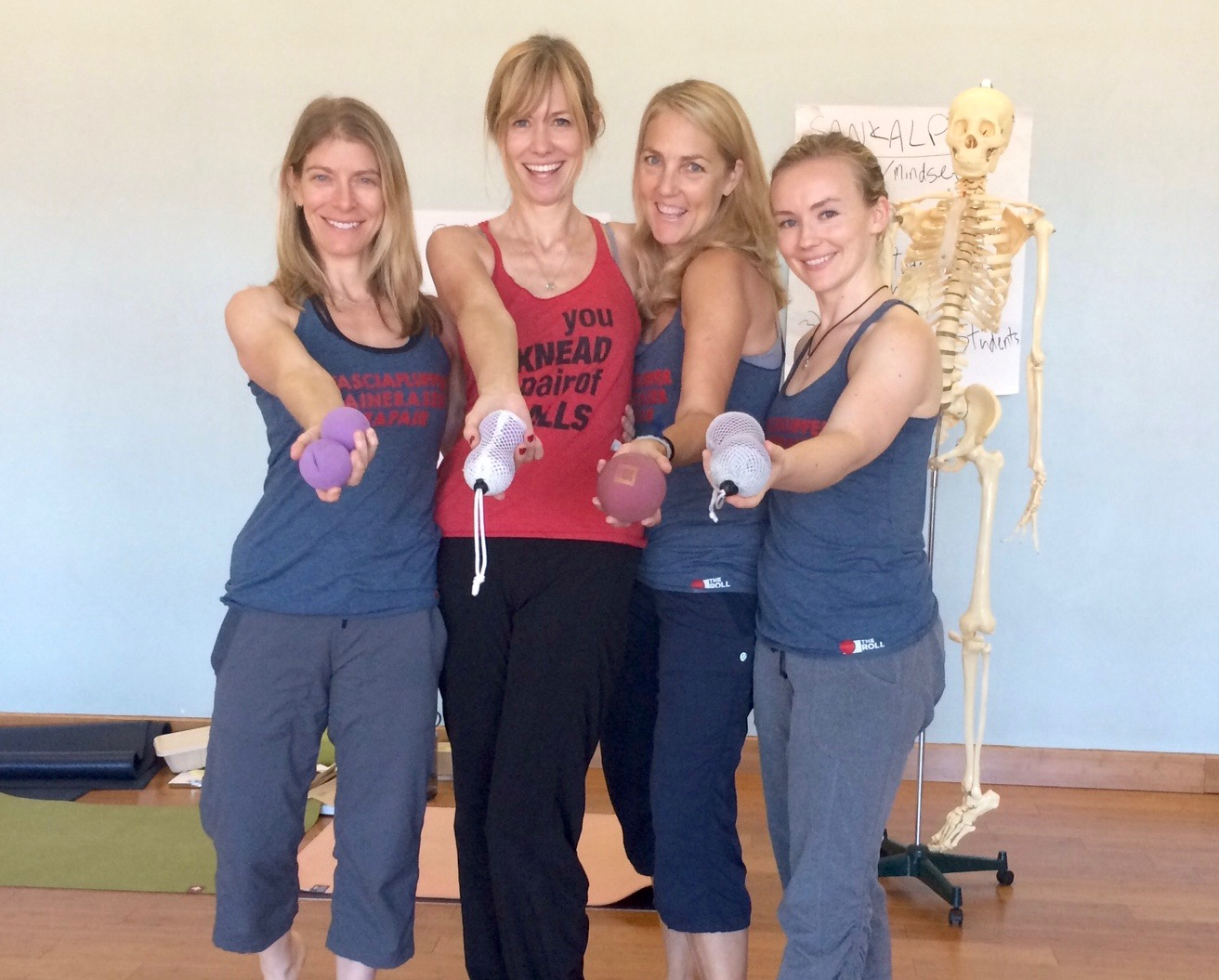 Jill Miller, Gwen Yeager, Laurie Streff & Alexandra Ellis - YTU Level 1 Teacher Training Oct 2015