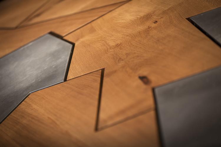 Modern Contemporary Fletcher Crane Architect Frog Capital Kings Cross St Pancras London Timber Metal Table Bespoke Unique
