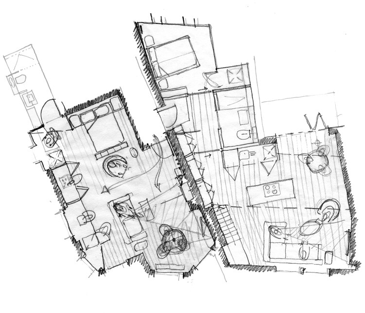 Modern Contemporary Fletcher Crane Architect Housing Residential Mayfair London Sketch Plan