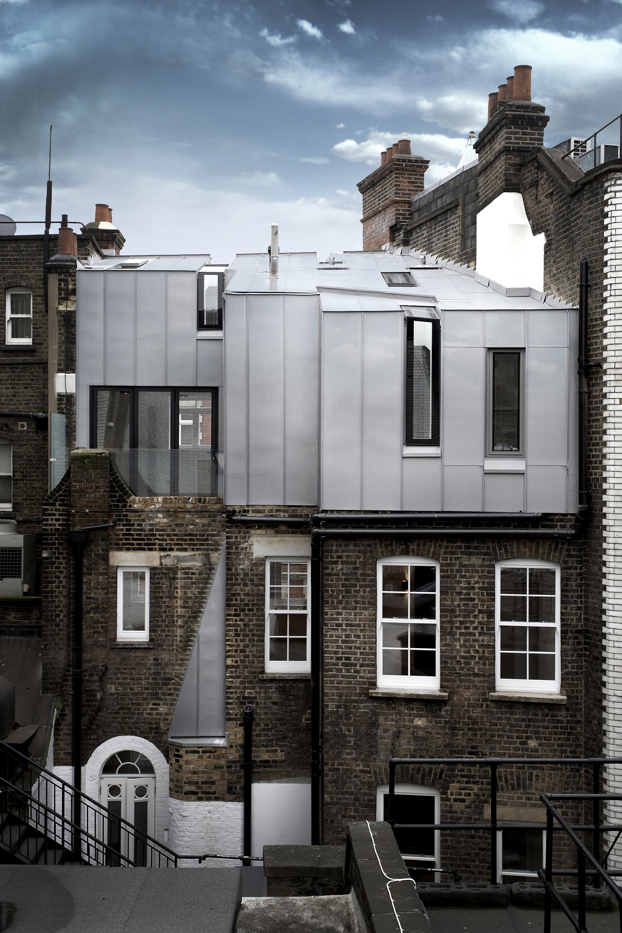 Modern Contemporary Fletcher Crane Architect Housing Residential Mayfair London Zinc cladding