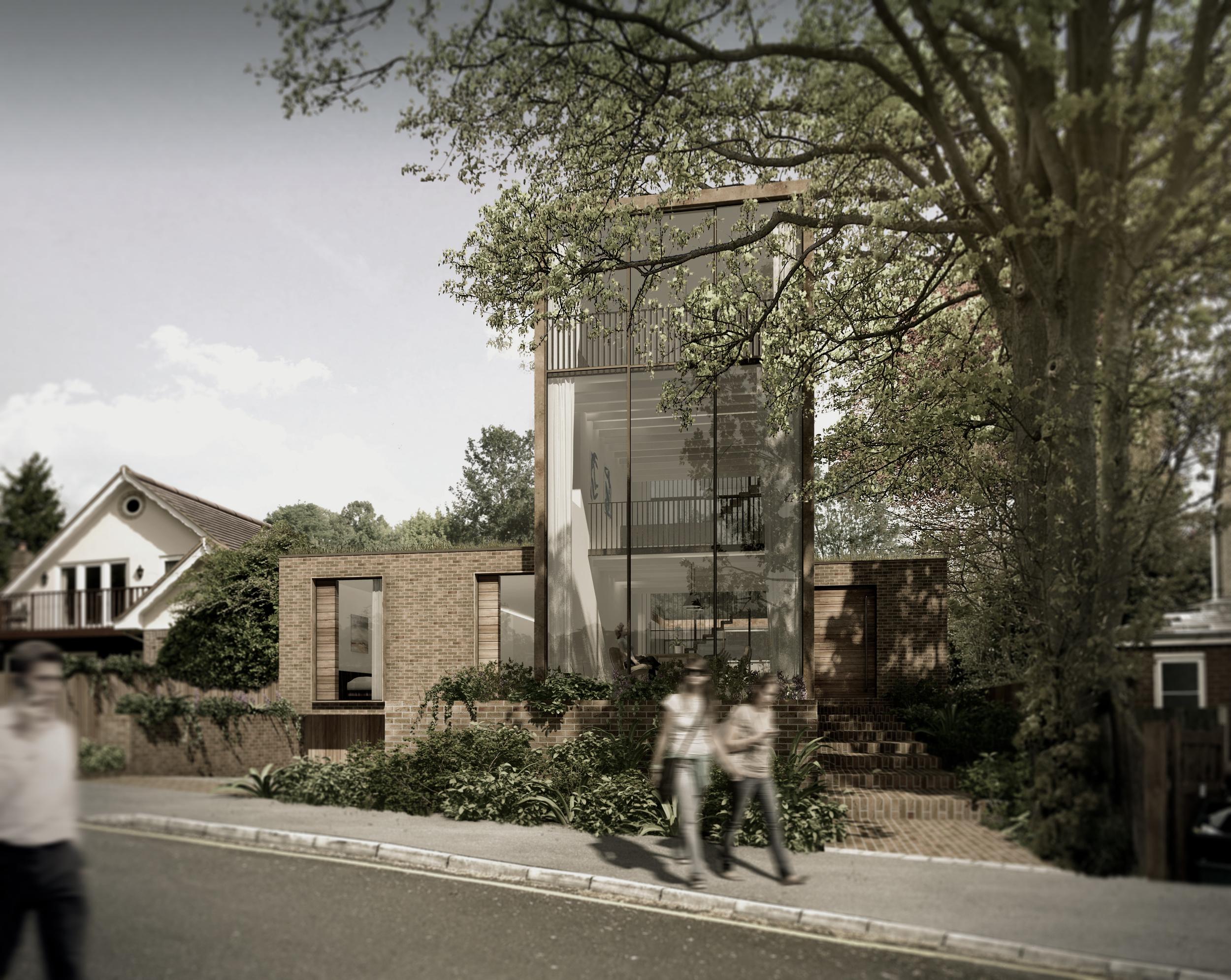 fletcher crane architects modern contemporary surrey architecture timber wood brick award