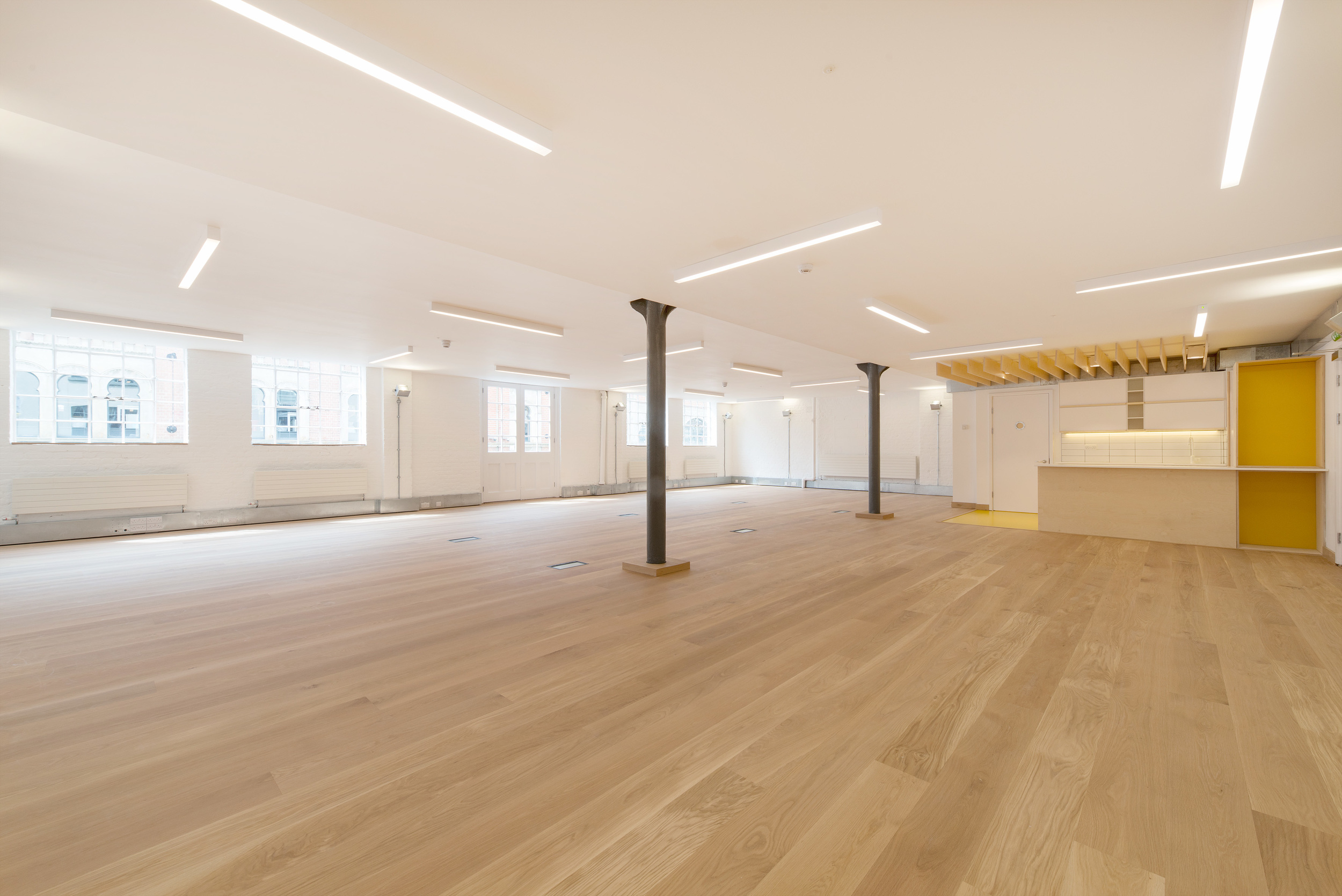fletcher crane architects, modern contemporary, fashion street london, plywood, office refurbishment