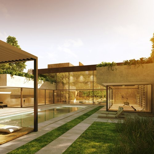 fletcher crane architects, thames ditton, house, concrete, surrey