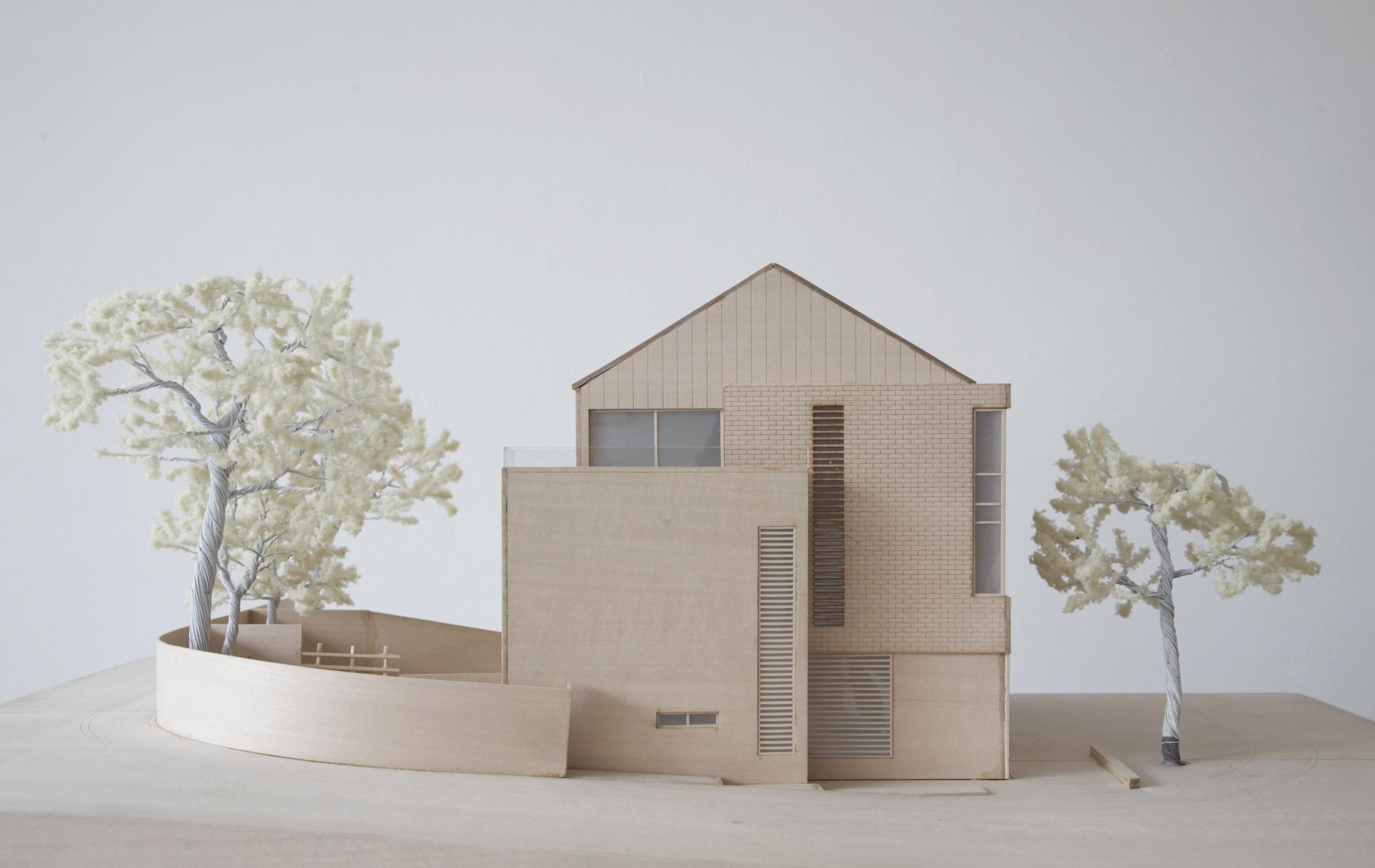 Model Modern Contemporary Architect House Wimbledon London Detail Brickwork