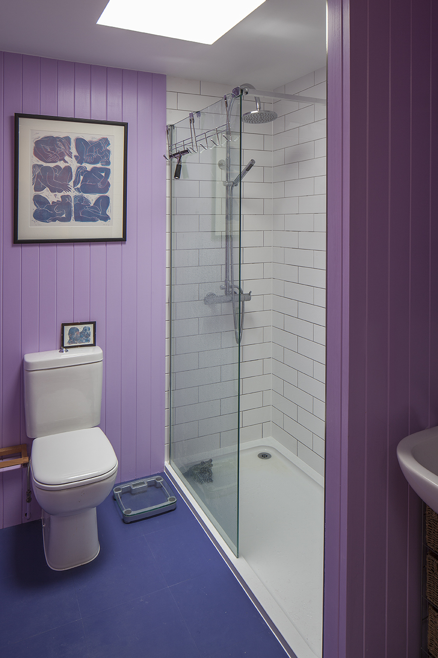 Fletcher Crane Architects, House, Extension, Teddington, Plywood, Polished Concrete, plywood staircase, span house