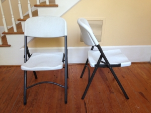 Our folding chairs