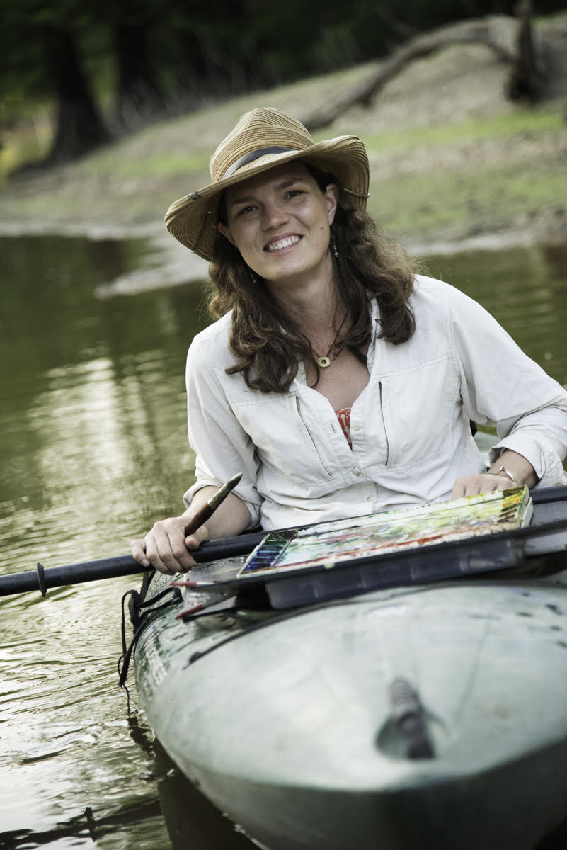 Robin Whitfield, Instructor - Robin Whitfield is a Mississippi artist whose mission is to connect to nature and help others do the same. Her creative work begins with observations of nature in rivers, swamps and forests. Her paintings are poetic explorations of visual and ecological relationships. Robin works on paper with traditional watercolors or directly with plant & mineral pigments gathered from the earth.Robin graduated from Delta State University in 1996 with a BFA in painting. She has given creative workshops and exhibited her work where art, nature and conservation overlap. She has been a working artist with ArtPlace Mississippi since 2002.