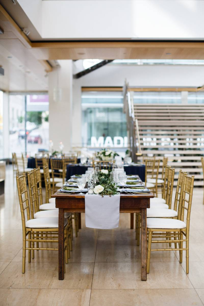 Overture Center For the Arts - My next choice for providing great wedding photos because there is so much natural light in the lobby of the overture center. The staircase provides a great backdrop not only for photos but just overall!Photo by Kina Wicks Photography
