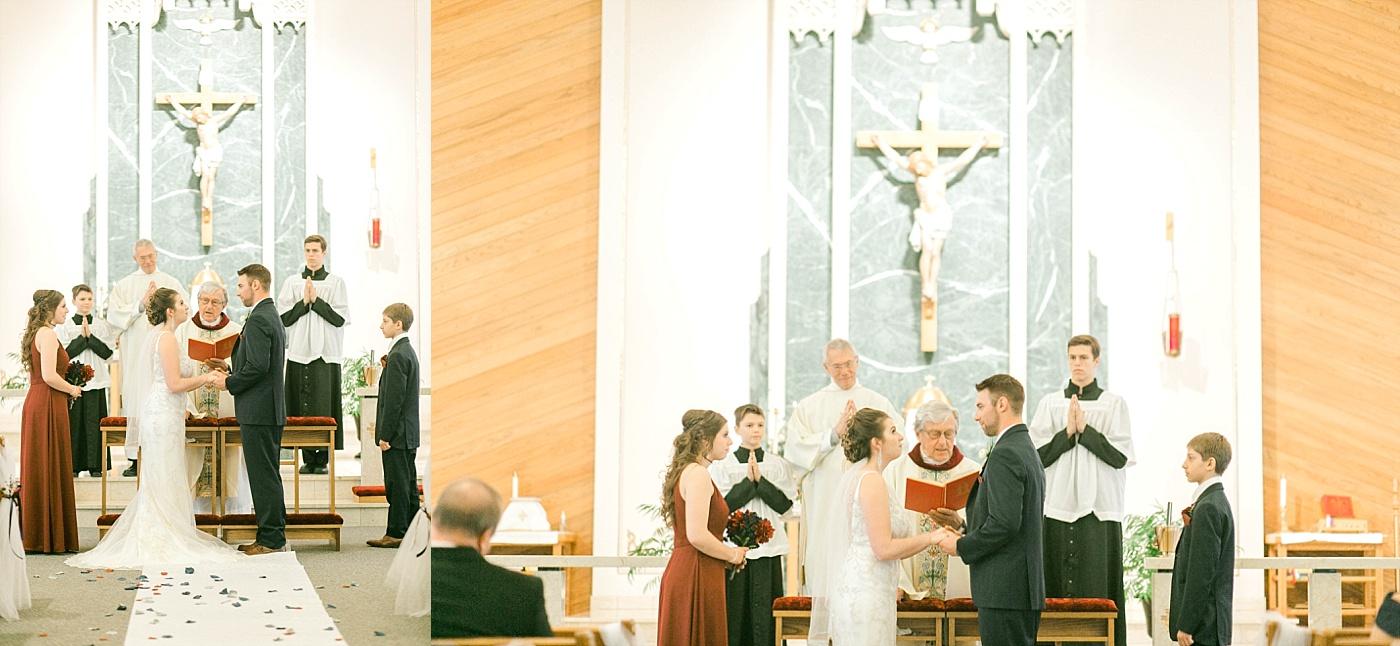 catholic church wedding photography in madison, wi