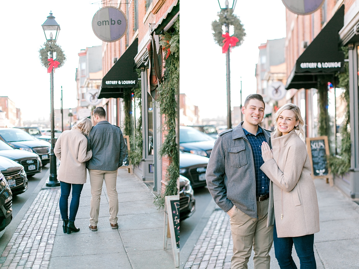 Galena downtown engagement photography