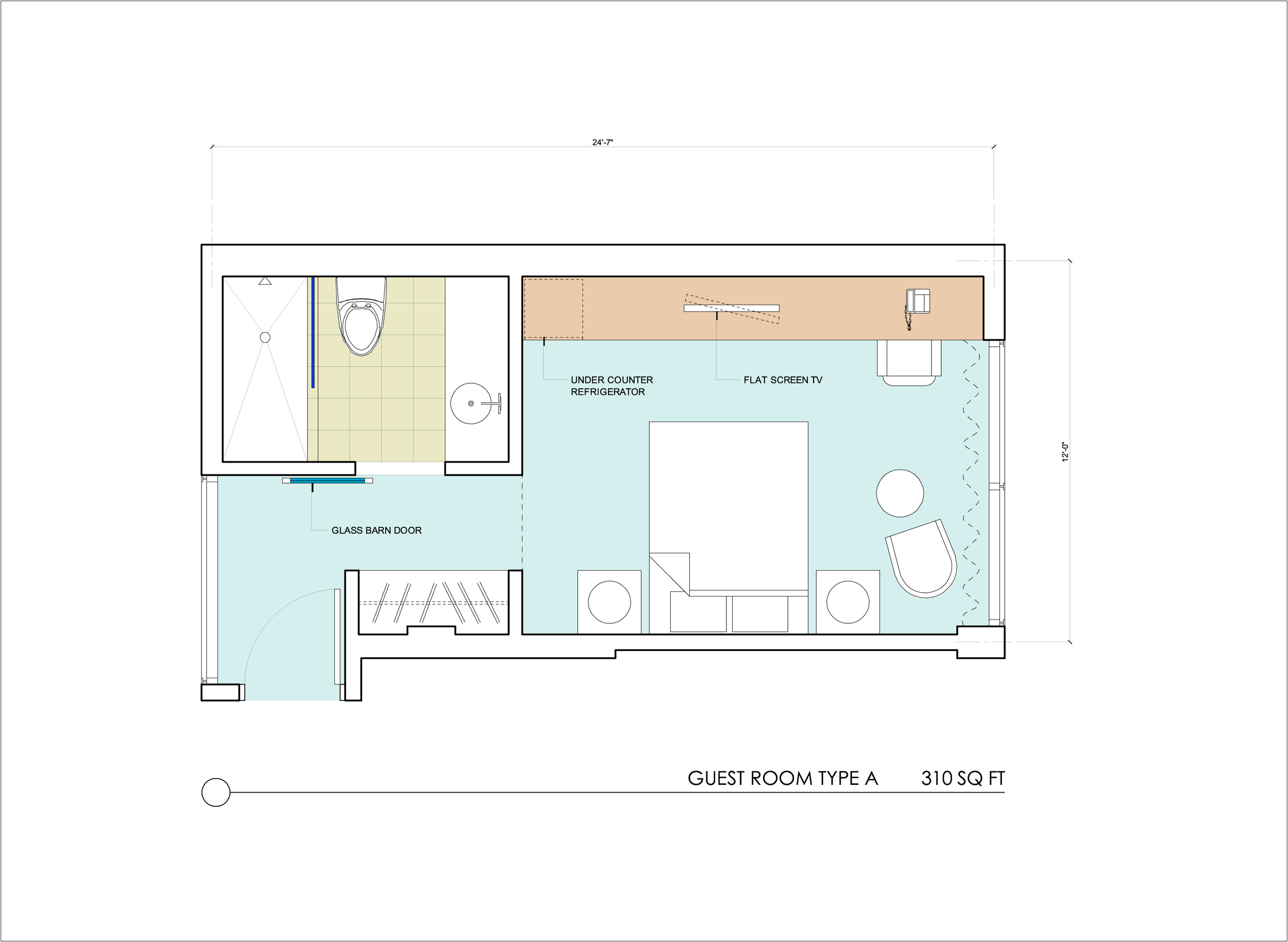 TYPICAL GUEST ROOM PLAN